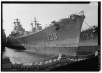 USS Des Moines CA- and USS Salem CA- at rest early s in the reserve basin of the Philadelphia Naval Shipyard where they had been for  years Des Moines was scrapped in  Salem became a museum ship in Quincy MA in  Photo by Jet Lowe Library of Congress