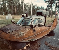 USSR amphibious vehicle on a property I visited