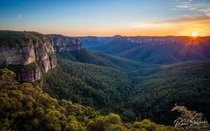 Usually Im a sunset chaser but Im glad I woke up early for this sunrise Blue Mountains NSW Australia