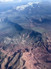 Utah from the plane specially flying out of Moab