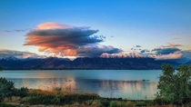 Utah lake and the Wasatch front