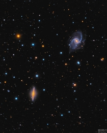 uTheVastReaches used an amateur telescope to collect light for  hours revealing this beautiful image of a pair of galaxies