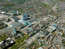 Utrecht Central Station from the air