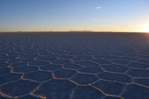 Uyuni Salt Flats at Sunset
