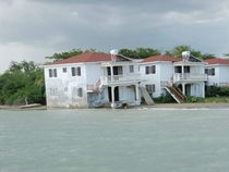 Vacation rental apartments being reclaimed by the sea - Parottee Bay Jamaica