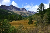 Valee de la Claree French Alps on a sunny day last September