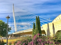 Valencia Spain Bridge of the City of Arts and Sciences More a sculpture than architecture
