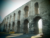 Valens Aqueduct Istanbul Turkey Built by Roman Emperor Valens in the late th century AD