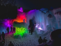 Valentines Day  at the Ice Castles in New Hampshire -F