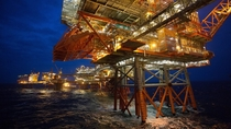 Valhall oil drilling platform in the southern Norwegian North Sea