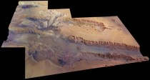 Valles Marineris on Mars as taken from ESAs Mars Express
