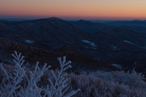 Valley North Carolina taken in freezing cold after sunset