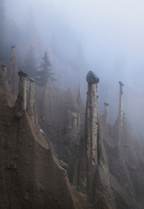 Valley of the earth pyramids- where one can see how nature works her wonders Dolomites Italy