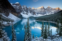 Valley of the Ten Peaks and Moraine Lake Banff National Park Canada  by Adam Burton