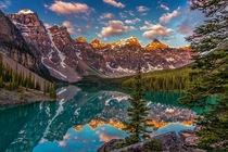 Valley of the ten peaks in Banff National Park Alberta Canada in morning light  by Cole Chase Photography