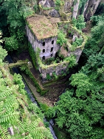 Vallone Dei Mulini Sorrento Italy -  year old abandoned flour mill
