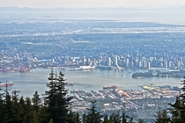 Vancouver BC from the top of Grouse Mountain  photo by Michael Schmidt