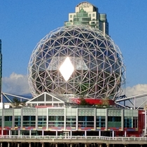 Vancouver BC Science World shining bright like a diamond