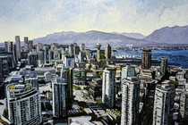 Vancouver Canada my painting of it with palette knife
