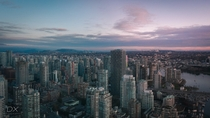 Vancouver Canada with multiple skylines
