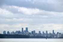 Vancouver skyline from Lighthouse Park West Vancouver