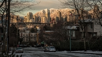 Vancouver with a rare dusting of snow