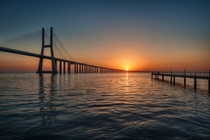 Vasco da Gama bridge Lisbon The longest bridge in Europe