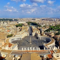 Vatican City  Rome The Saint Peters Square from the Saint Peters Basilica