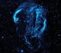 Veil Nebula Processed as Blue taken by NASA Absolutely stunning