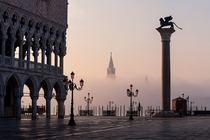 Venice by morning shrouded in a spring fog