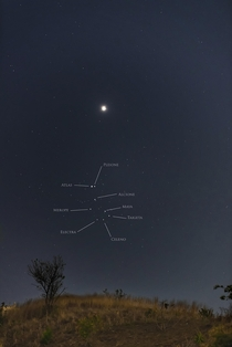 Venus and the Pleiades April  from Guatemala