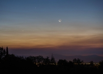 Venus Jupiter and the Moon Early This Morning