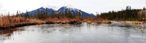 Vermilion Lakes Alberta Canada day  of our  week exploration of the area only an amateur photo but thought Idshare  x