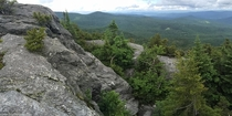 Vermonts Long Trail white blazes over Burnt Rock Mountain