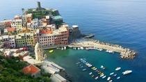 Vernazza Cinque Terre Italy Taken on my smartphone from a cemetery overlooking the town