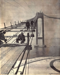Verrazzano Bridge construction s