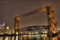 Vertical-Lift Train Bridge in Cleveland
