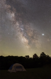 Vertical Panorama of the Milky Way