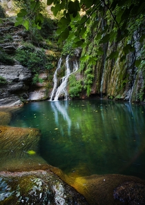 Very scenic looking waterfall in Abruzzo Italy Photo by Luciano Paradisi