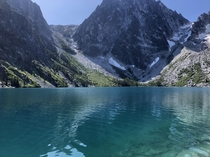 Very steep  mile hike to get here Worth it Colchuck Lake - Leavenworth WA