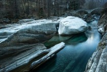 Verzasca river Ticino Switzerland