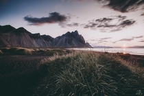 Vestrahorn Mountain At Sunrise - Iceland  x