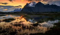 Vestrahorn Mountains at Stokksnes Iceland  by Lillian Molstad Andresen