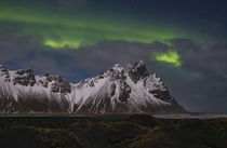 Vestrahorn Northern Lights  Iceland - what a magical night   - Instagram  aetravel