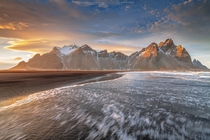 Vestrahorn Sunset Iceland  Photo by Vincenzo Mazza xpost from rIsland