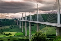 Viaduc de Millau France - m long m tall  By Stephane Graiche  x-post rFrancePics