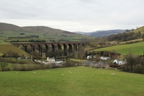 Viaduct I see every time Im on the train Kendal Cumbria England