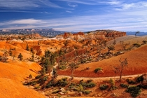 Vibrant desert colors on Queens Garden Trail Bryce Canyon National Park Utah
