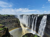 Victoria Falls in Zambia on the nd of January