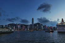 Victoria Harbour Hong Kong at Dusk